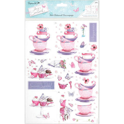 Lucy Cromwell Collection - Diecut Decoupage - Tea & Cake