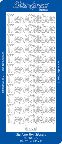 Starform Deco Sticker - Merry Christmas- Large- Silver
