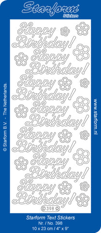 Starform Happy Birthday large stickers