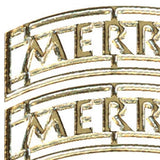 Doodey Deco Sticker - Merry Christmas - Waves - Silver & Gold