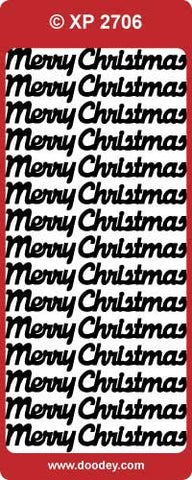 Doodey Deco Sticker - Merry Christmas - Various Colors