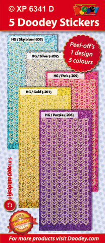 Doodey Deco Sticker Set - Heart Borders - Pastels