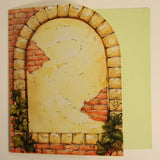 "Brick stone wall - printed cards & envelopes 6"" x 6"" 6 pack"