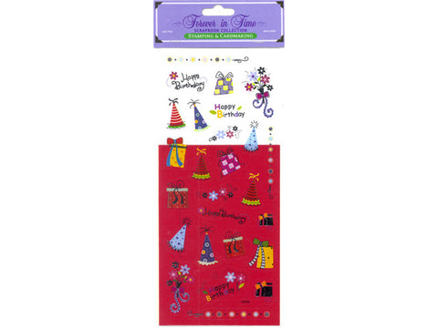 Window Card & Sticker Kit - Happy Birthday