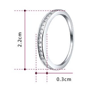 Women Round Cubic Zirconia White Ring
