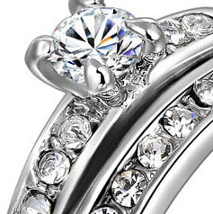 Women Round Cubic Zirconia Ring