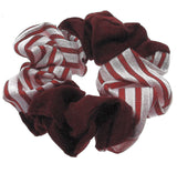 Hair Accessories Red Pattern Simply Cotton Ponytail Scrunchies