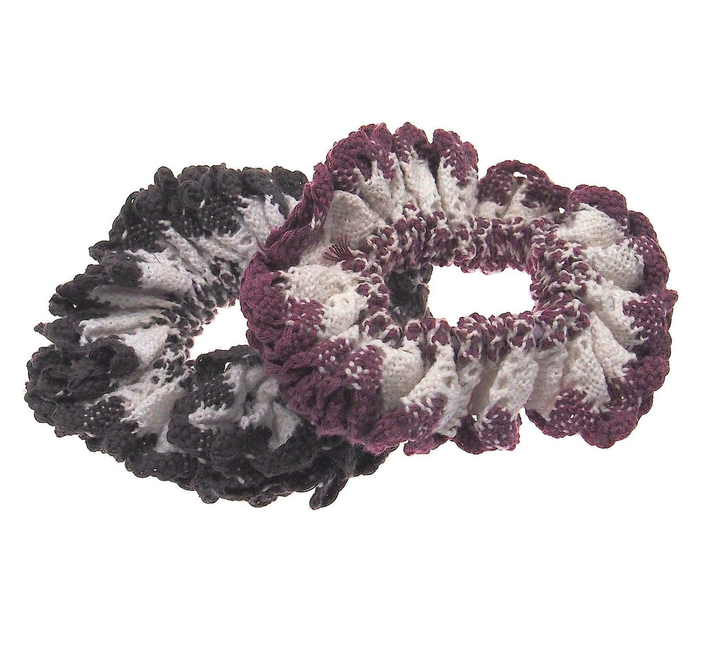 Hair Accessories Purple Grey Ponytail Simply Fashion Chic Scrunchies