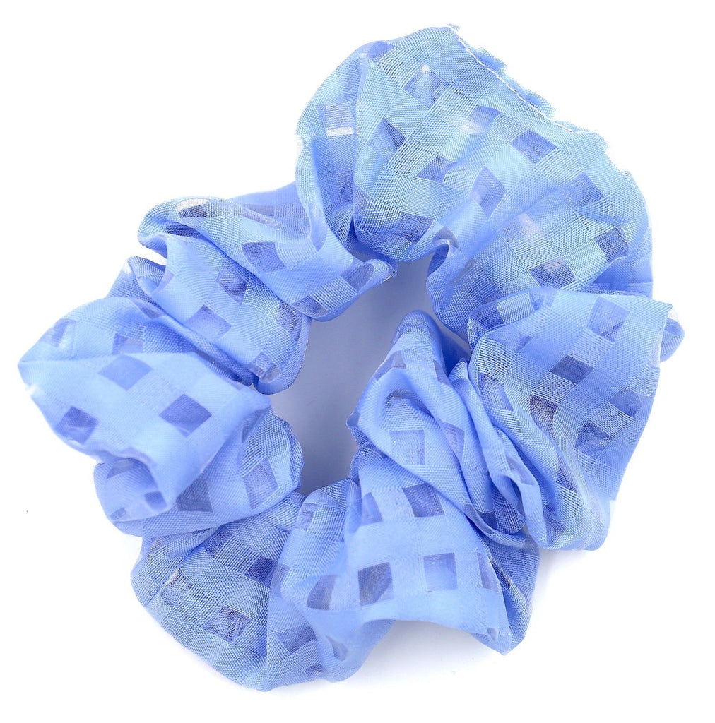 Hair Accessories Blue Nylon Square Stylish Boho Ponytail Scrunchies