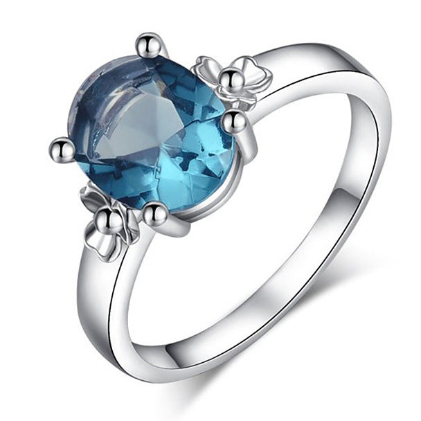 Women Round Austrian Crystal Ring