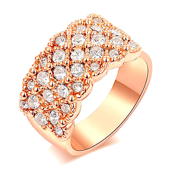 Women Austrian Crystal Rose Gold Ring