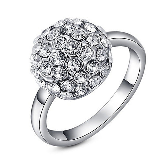 Women Round Austrian Crystals Ring