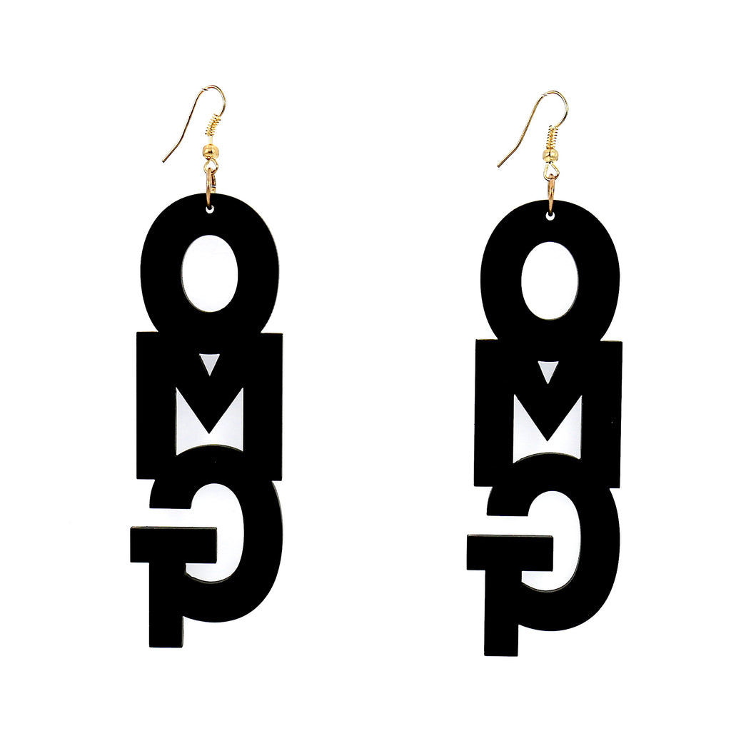 Acrylic Drop Earrings For Women (OMG)