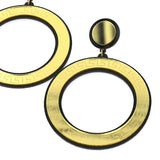 Big Gold Round Stud Earrings