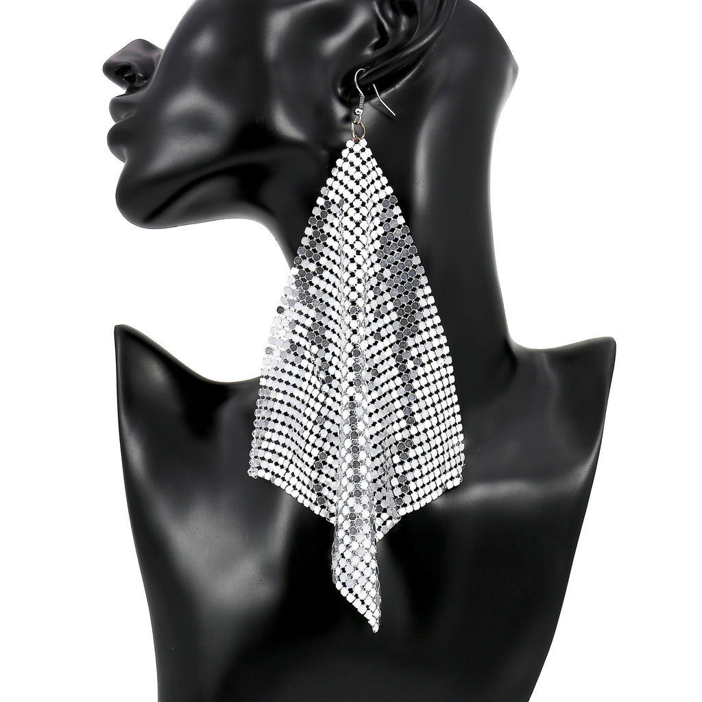 Big Party Mesh Earrings (Size: Large)