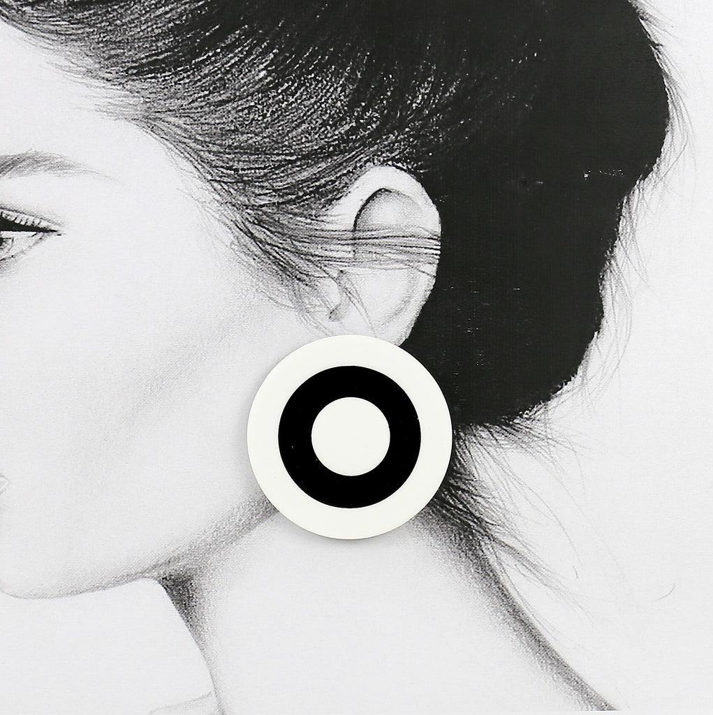 Circle Acrylic Stud Earrings