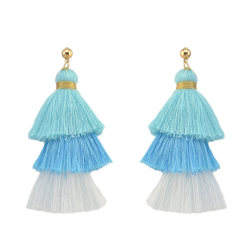 Hot Selling Layered Tassel Earrings