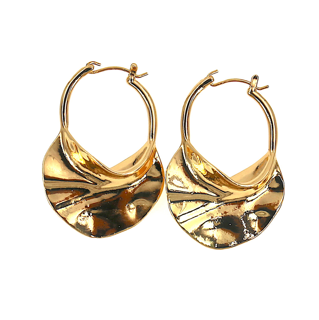 Alloy Gold Hoop Earrings
