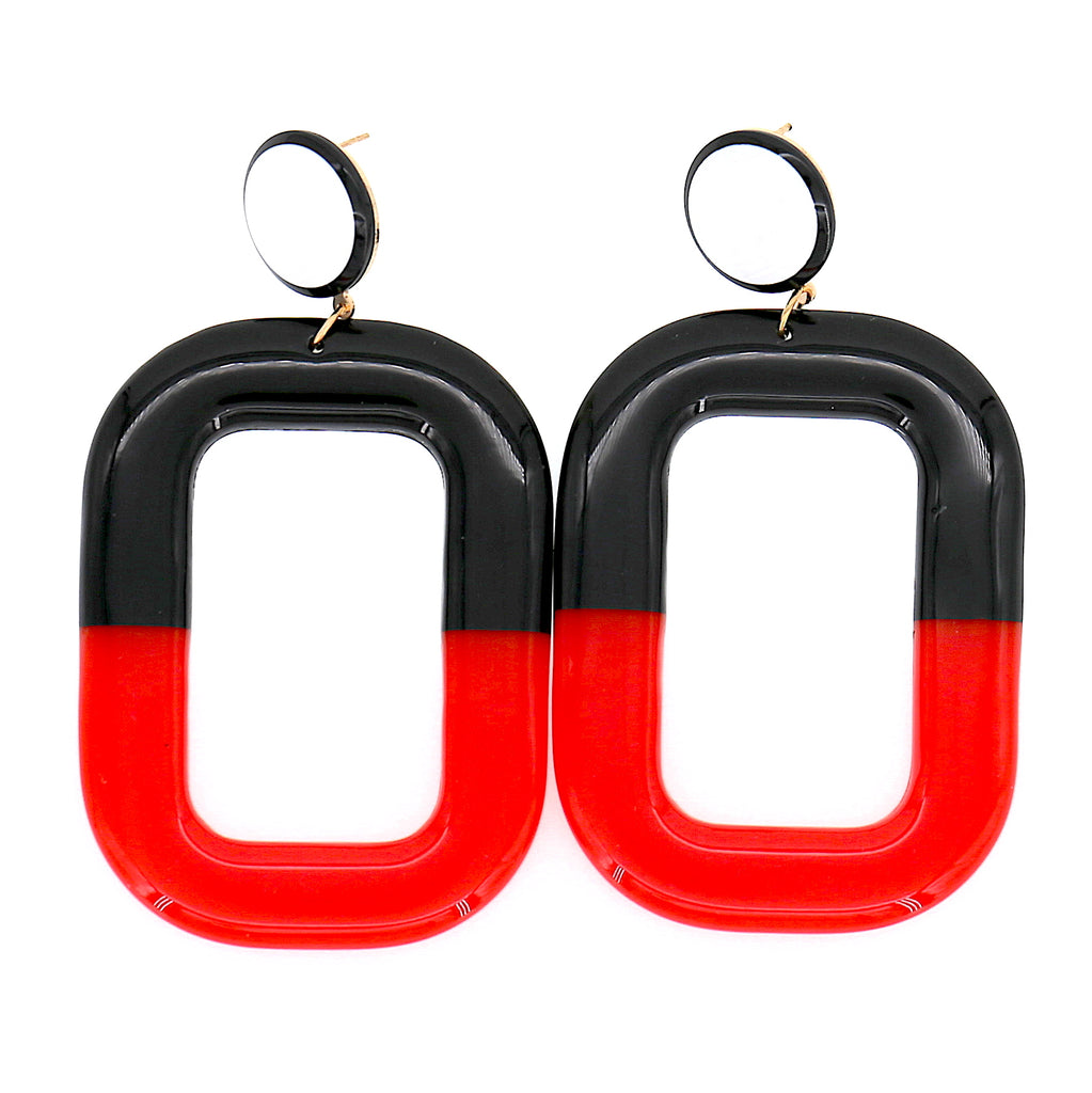 Acrylic Rectangle Stud Drop Earrings
