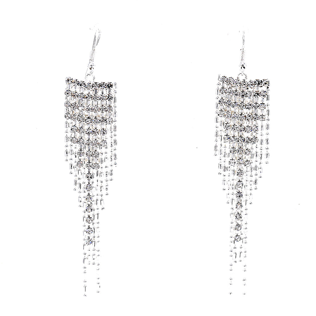 Girls Crystal Stone Drop Dangle Earrings