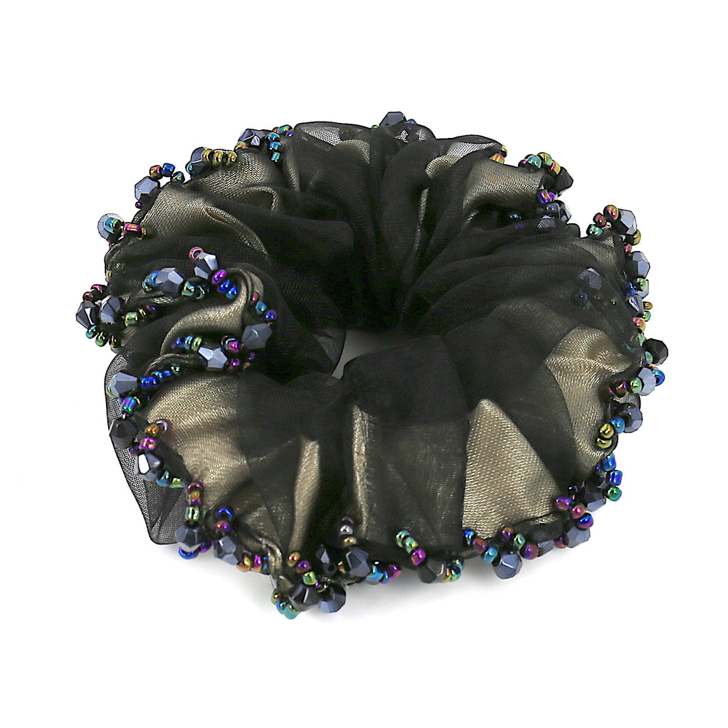 Hair Accessories Women Girls Black Lace Bead Scrunchies