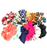Set of 12 Women Hair Accessories Girls Multicolored Pattern Scrunchies for Hair