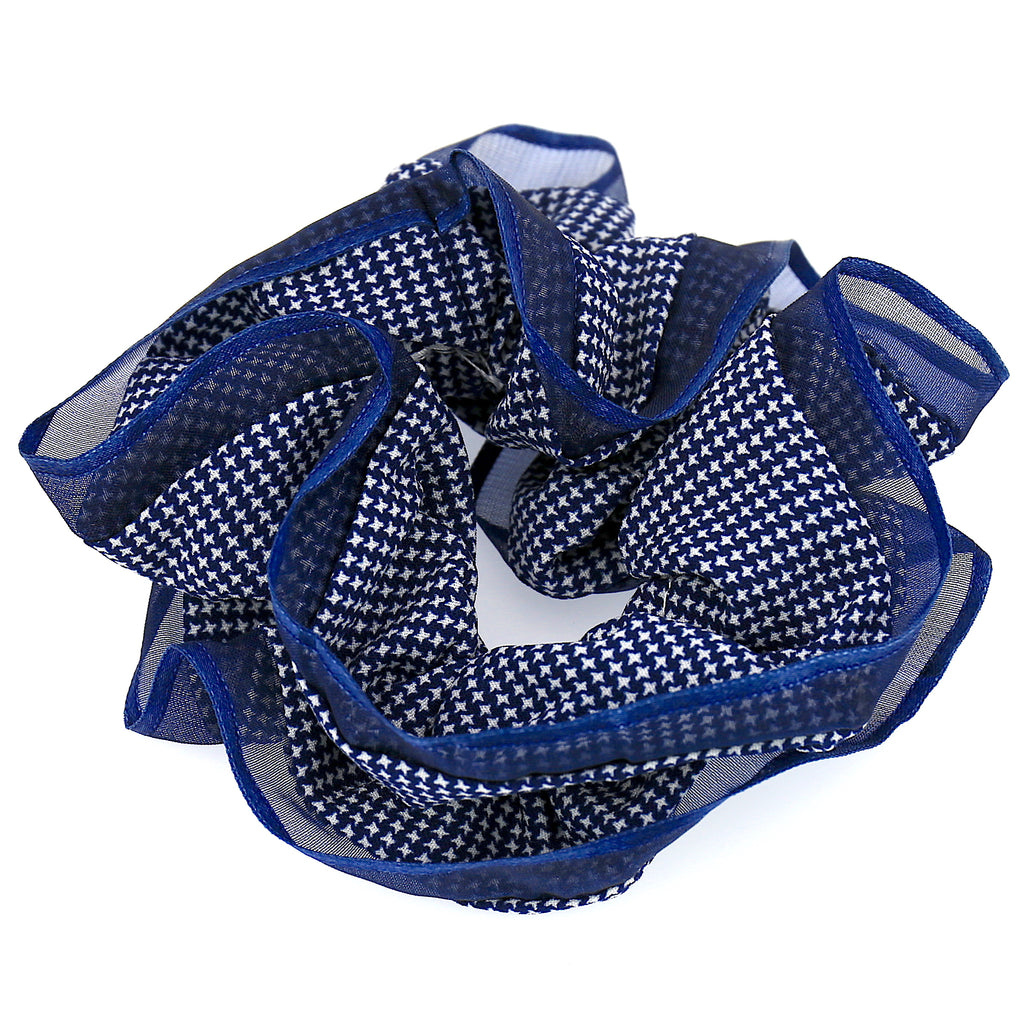 Hair Accessories Hair Ties Blue Lace Layer Scrunchies