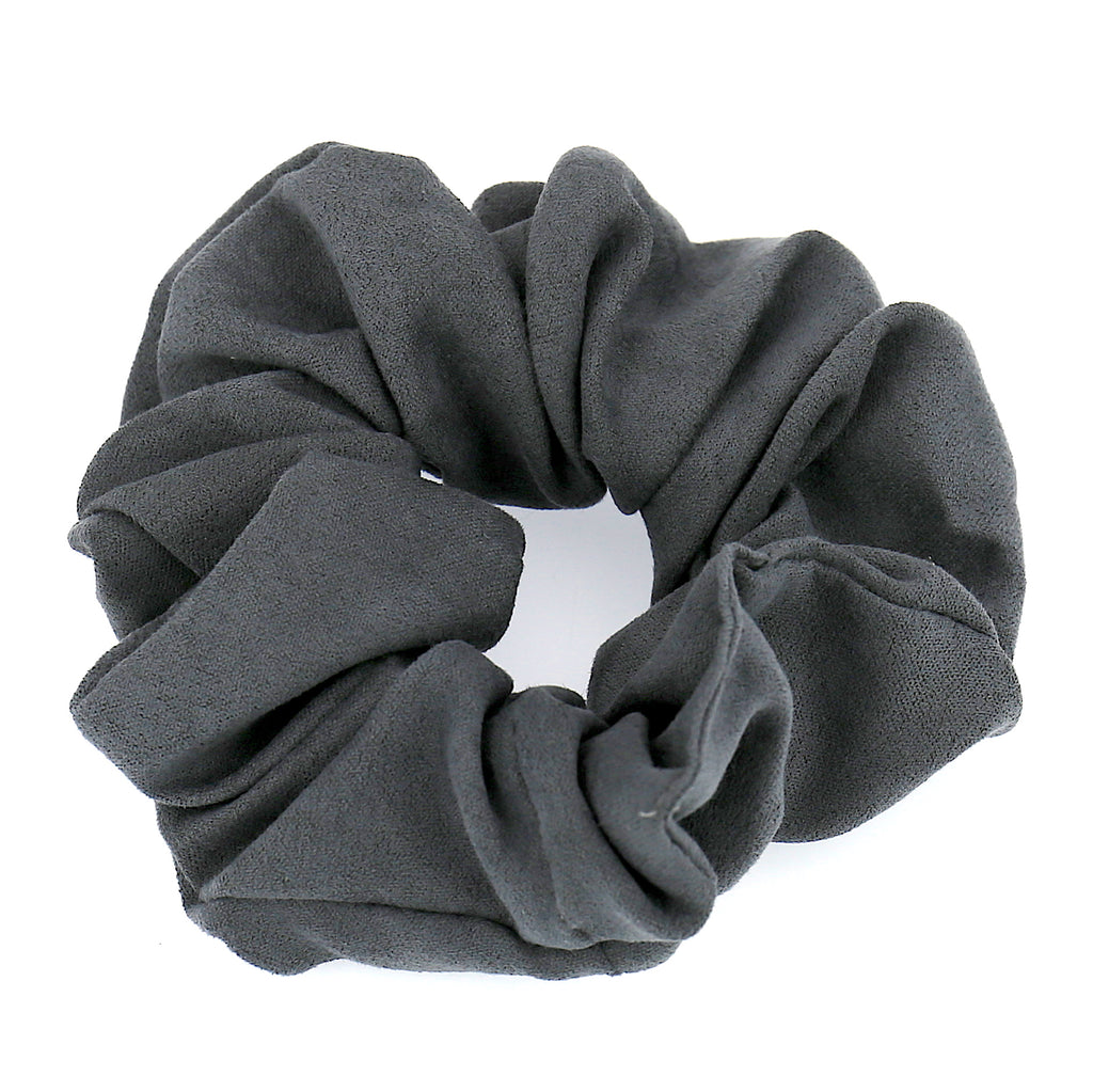 Women Hair Accessories Grey Velvet Elastic Scrunchies