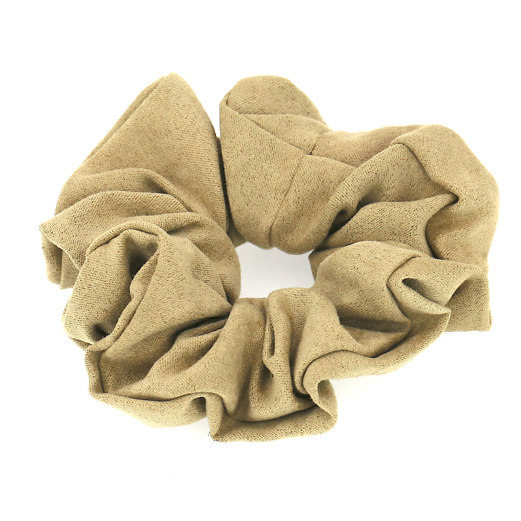 Women Hair Accessories Beige Velvet Elastic Scrunchies