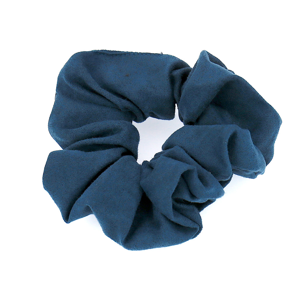 Women Hair Accessories Blue Velvet Elastic Scrunchies