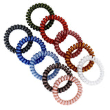 Set of 10 Women Accessories Girls Colorful Colorful Waves Elastic Ties Scrunchies