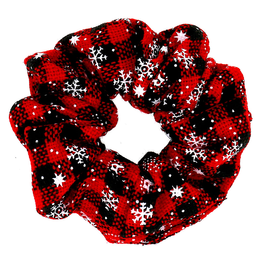 Hair Accessories Girls Red Polyester Simple Pattern Women Elastic Scrunchies