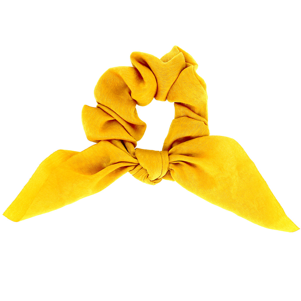 Hair Accessories Girls Rabbit Bunny Ear Bow Bowknot Yellow Women Elastic Scrunchies