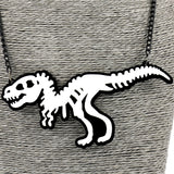 Women Pendant DinosaurLong Chain Standout Necklace