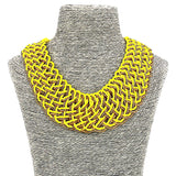 Fashion Jewelry Long Resin Beaded Collar Women Necklace