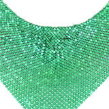 Red Green Mesh Exaggerated Statement Earring Necklace