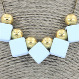 Fashion Jewellery Long Square Round Resin Statement Necklace For Women