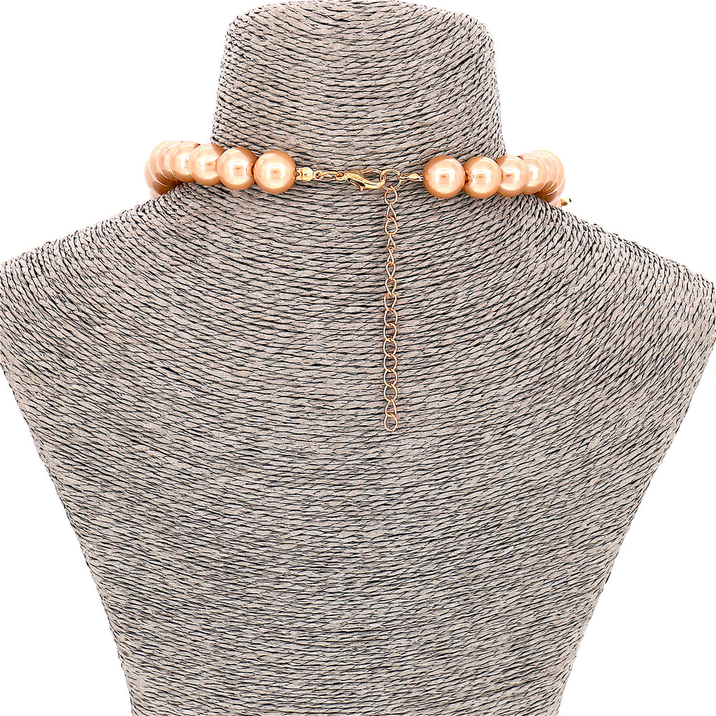 Simulated Pearl Beads Statement Collar Women Necklace