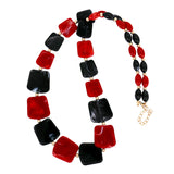 Long Resin Stone Beads Statement Women Necklace