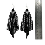 Black Mesh Drop Earrings