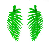 Green Leaf Stunning Party Standout Stud Earring
