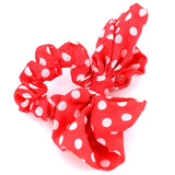 Hair Accessories Scrunchie Adjustable Red White Dot Bow Pattern