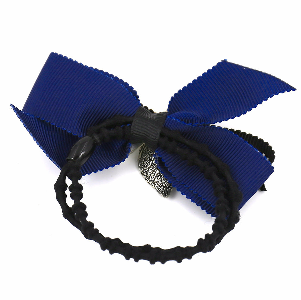 Hair Accessories Scrunchie Adjustablec Blue Crystal Lovely Bow