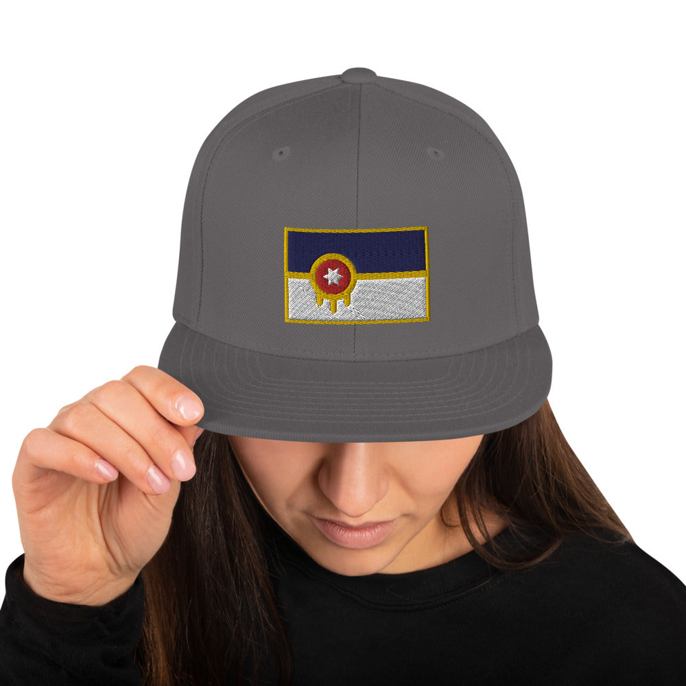 Tulsa Flag Embroidered Classic Back Hat, Hats, - The Vintage Phoenix Marketplace