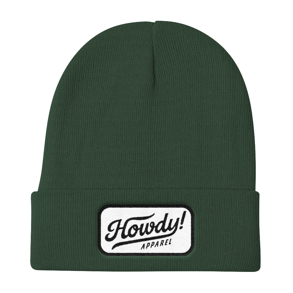 Howdy! Apparel Logo Patch Knit Beanie, Hats, - The Vintage Phoenix Marketplace