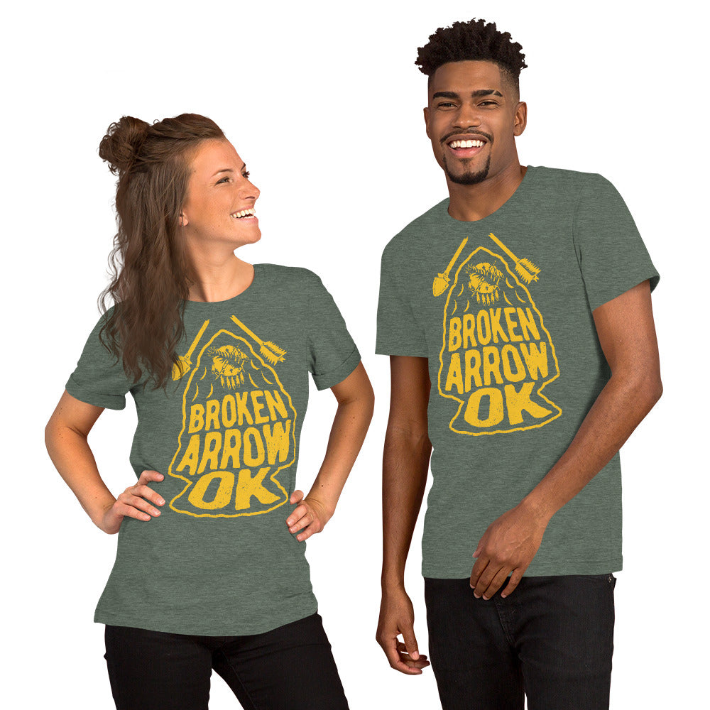 Broken Arrow T-shirt - Gold, TShirts, - The Vintage Phoenix Marketplace