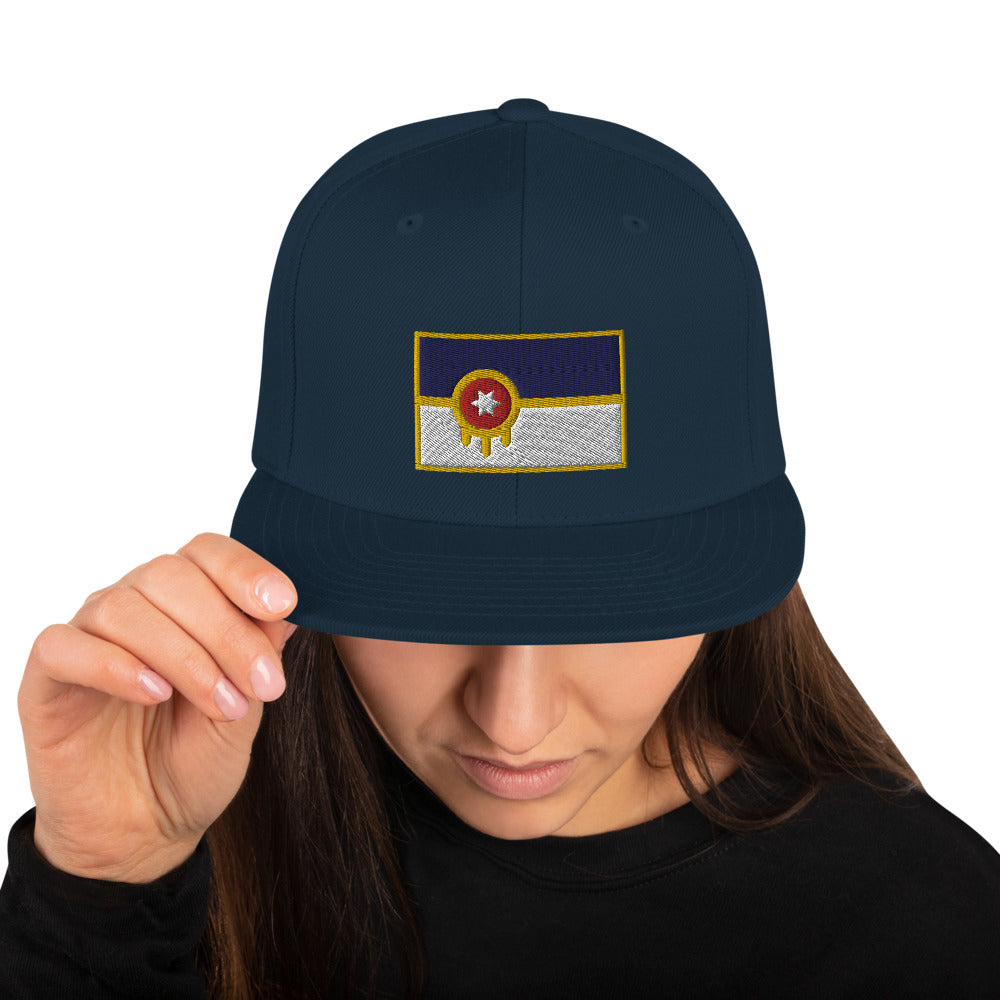 Tulsa Flag Embroidered Classic Back Hat - Vintage Phoenix Marketplace