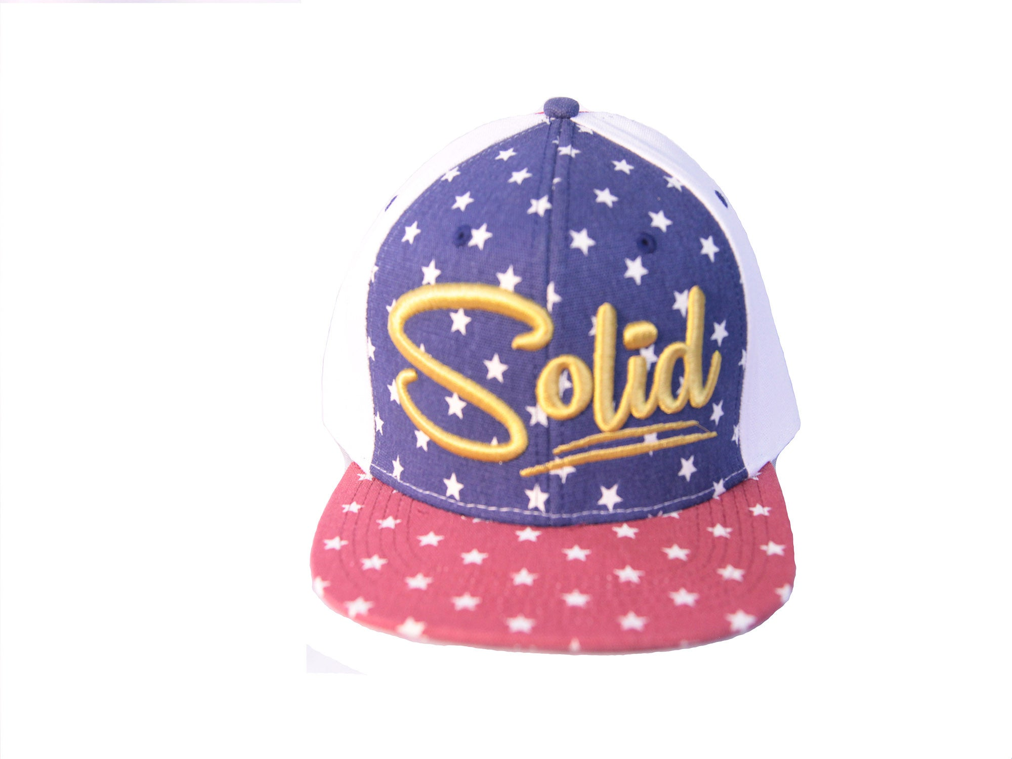 """Solid"" Red/White/Blue Cap"