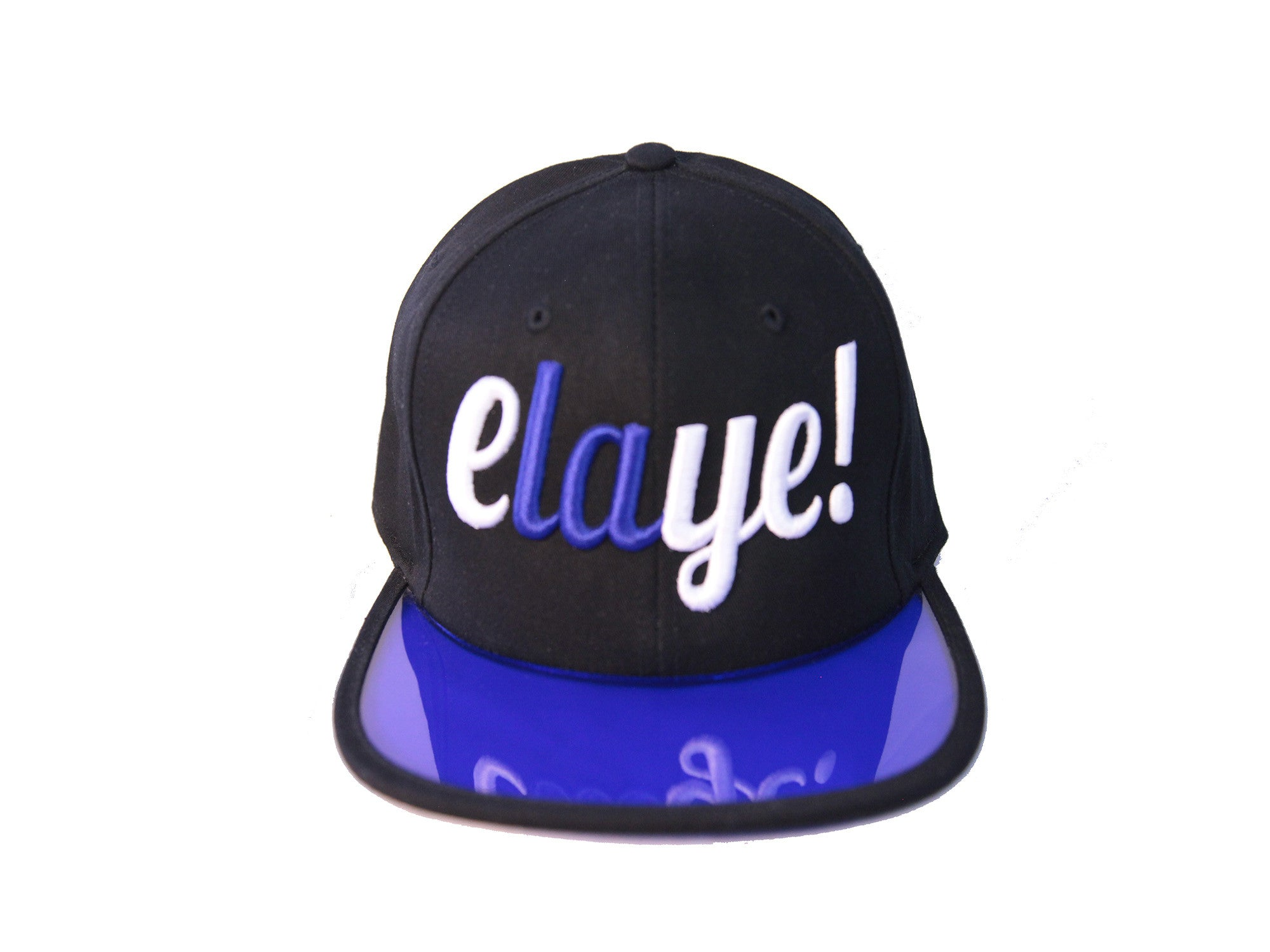 """Elaye"" Black/Blue Cap"