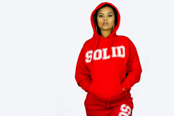 """Solid"" Red/White Sweatsuit"